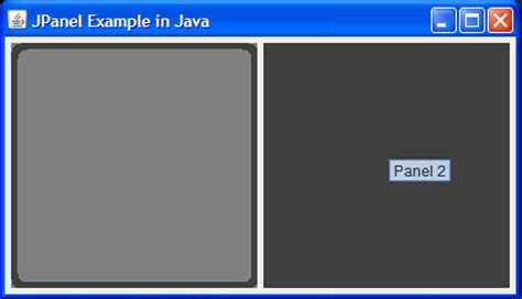 JPanel in Swing Example for Beginners