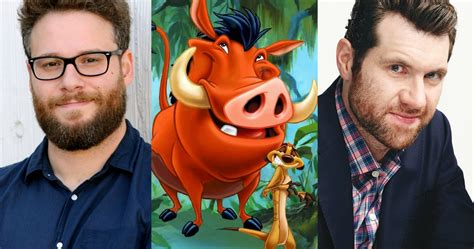 Disney's Lion King Gets Rogen and Eichner as Timon and Pumbaa