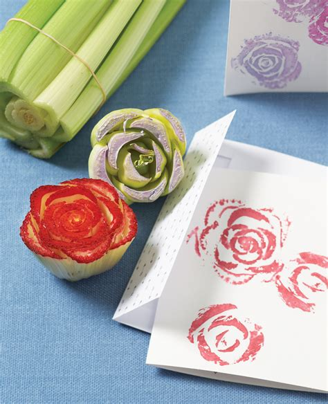 How to make pretty floral vegetable stamps
