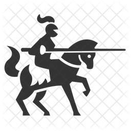 Knight Icon of Glyph style - Available in SVG, PNG, EPS