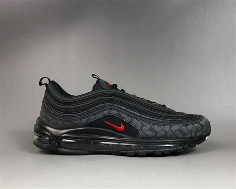 """Nike Air Max 97 """"Reflective Logo"""" Black/University Red For"""