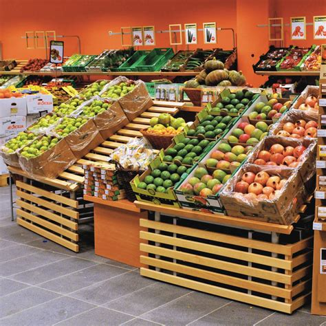 Round-tube fruit and vegetable display | Wanzl