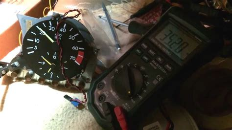 Mercedes W201 tach modded to work on a w123 240d - YouTube