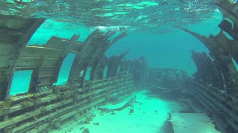 Drug Plane Dive, Normans Cay, Bahamas - YouTube