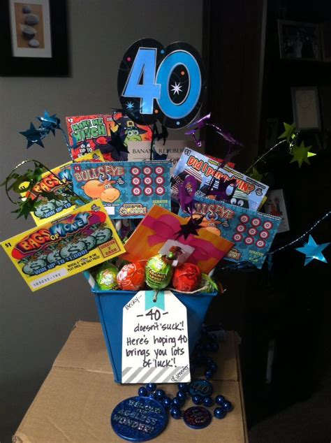Image result for 40 lotto gift basket | 40th birthday