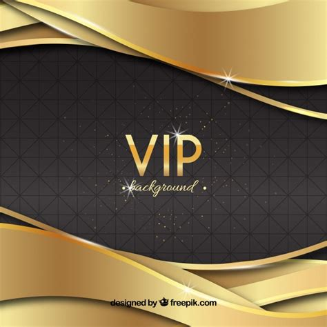 Free Vector | Elegant vip background with golden waves