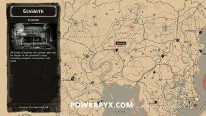 Red Dead Redemption 2 Gunsmith Locations
