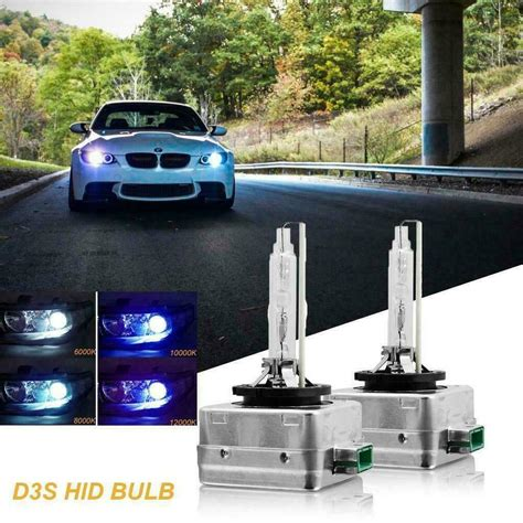 8000K D3S Xenon HID Bulbs Direct Replacement For Philips