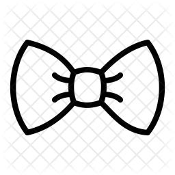 Bow Tie Icon of Line style - Available in SVG, PNG, EPS
