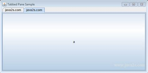 Java Tutorial - Get and Set the Selected Tab in a