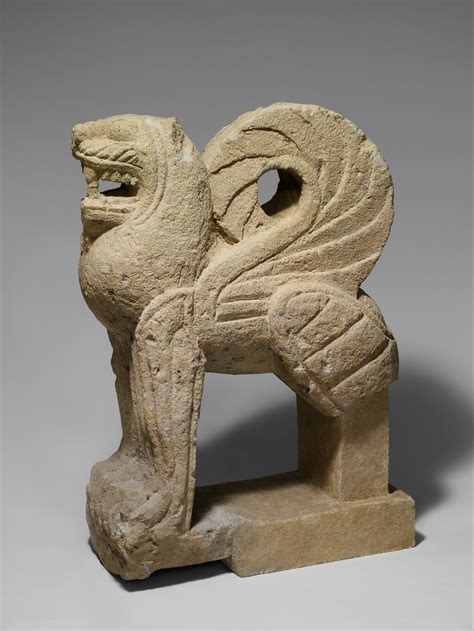 Nenfro statue of a winged lion   Etruscan   Archaic   The Met