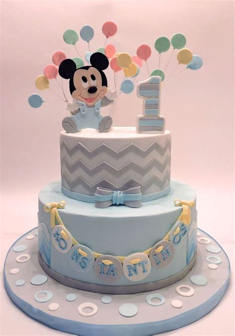 Baby Mickey Mouse on Cake Central   Baby mickey cake, Baby