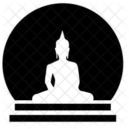 Buddha Icon of Glyph style - Available in SVG, PNG, EPS