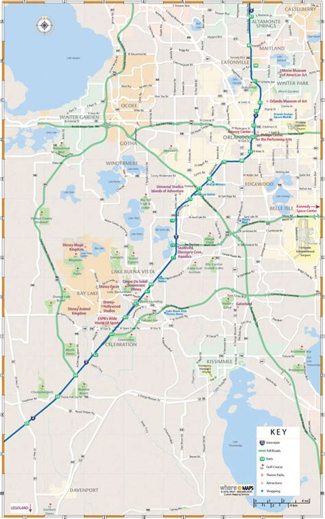 Map of Greater Orlando: Interactive and Printable Maps